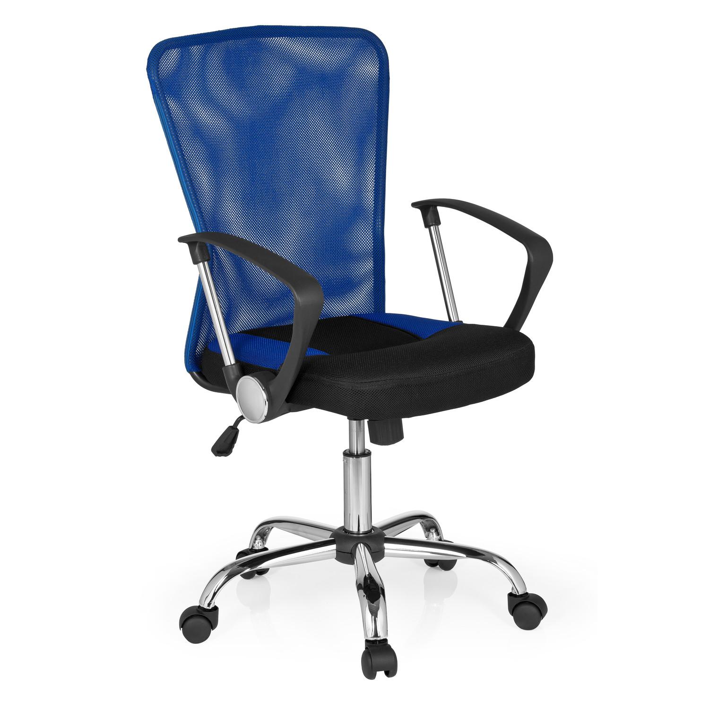 Silla De Oficina Clio Base De Aluminio Y Respaldo Azul