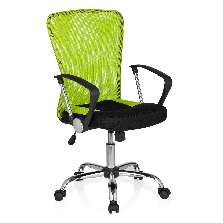 Silla de oficina clio base de aluminio y respaldo verde - Sillas colores ...