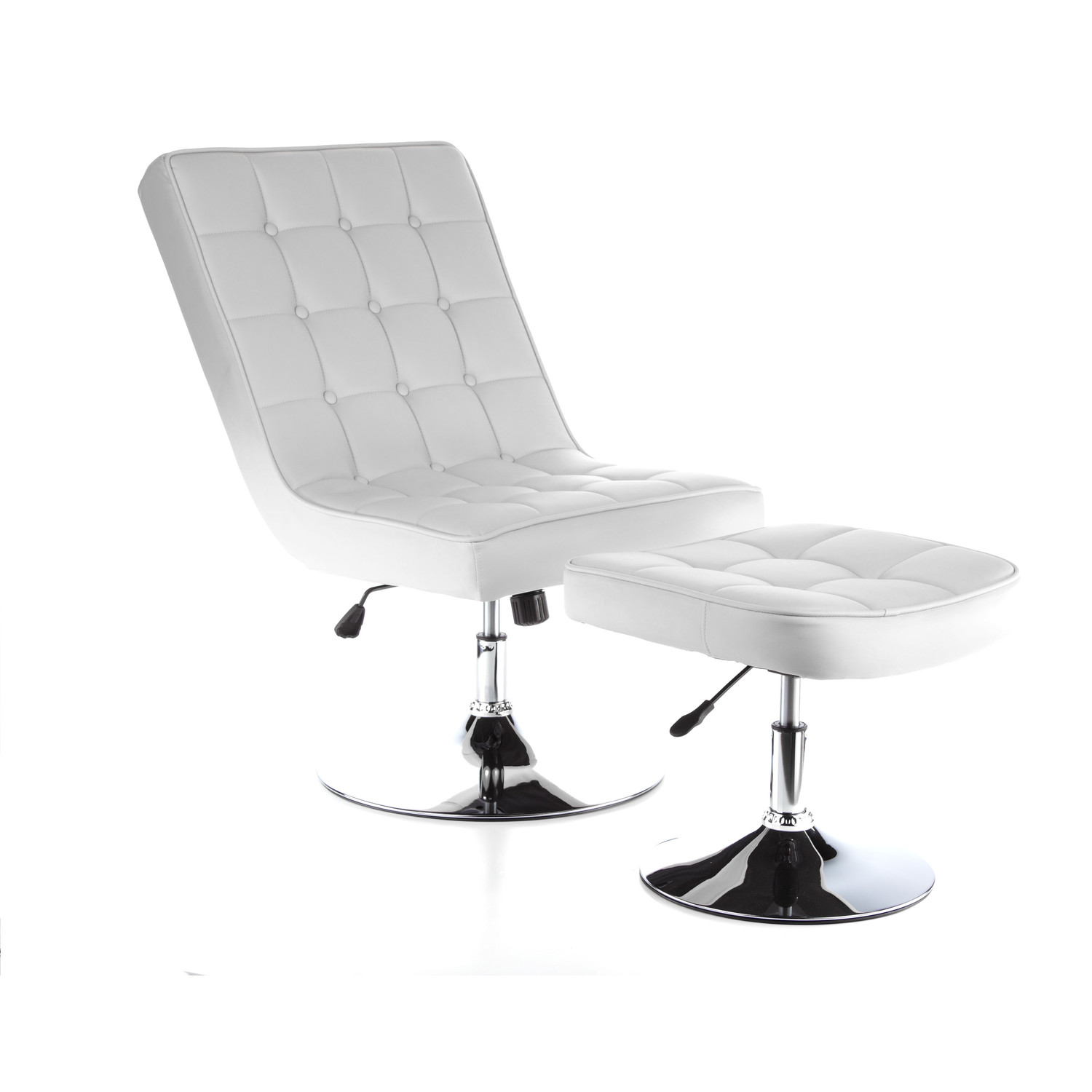 Sill n div n reclinable relax plus en dos piezas blanco for Sillon reclinable blanco