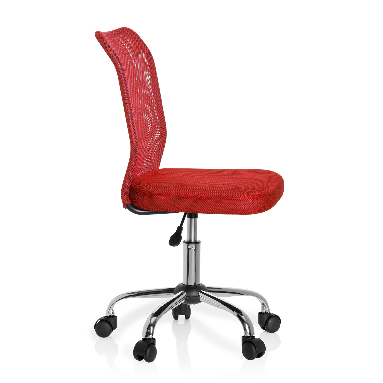 Silla escritorio juvenil junior malla en malla color rojo for Sillas escritorio juvenil