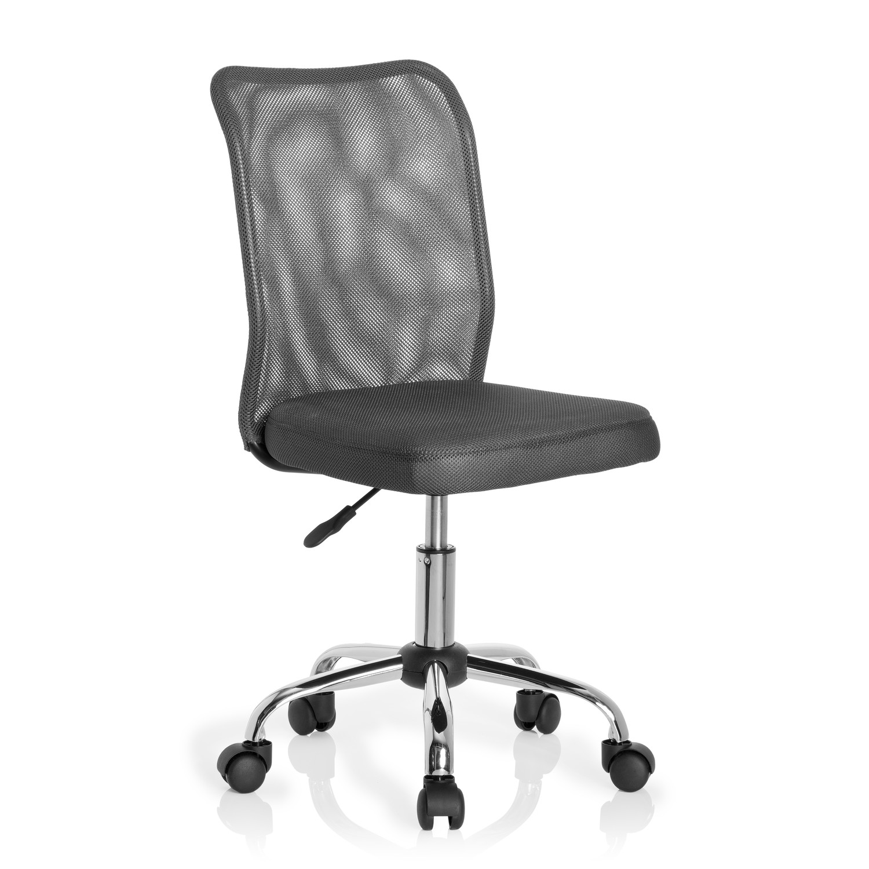 Silla escritorio juvenil junior malla en malla color gris for Sillas color gris