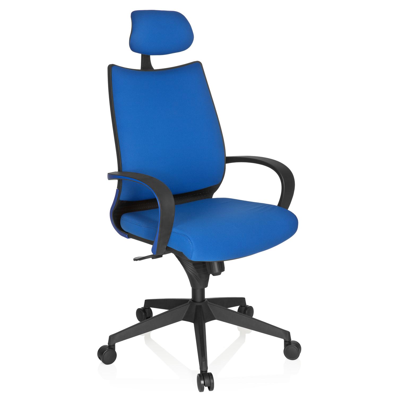 Silla ergon mica dorado max azul reposacabezas soporte for Soporte lumbar silla oficina