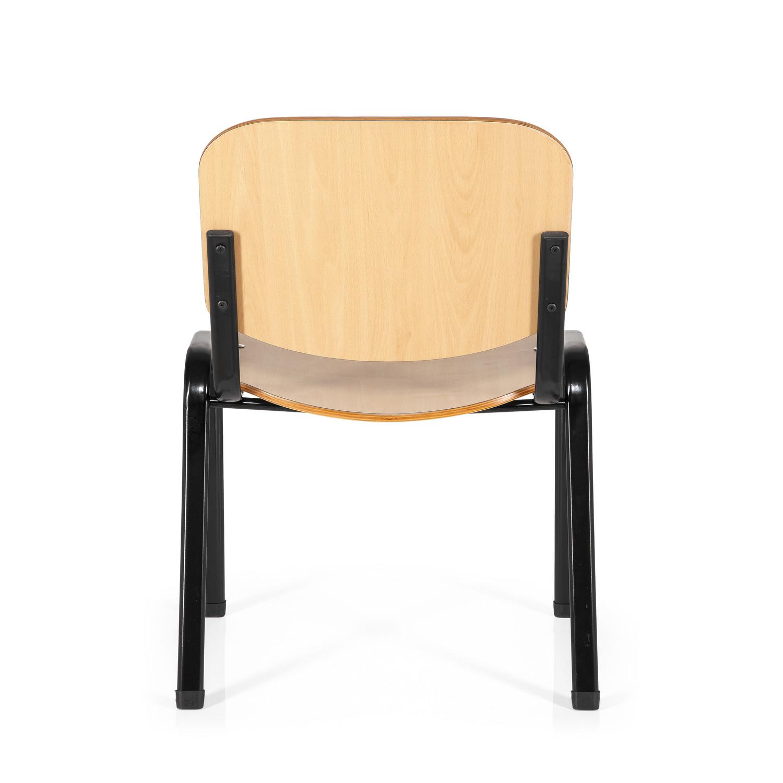 Silla de confidente moby base en madera patas negras for Sillas comodas y economicas