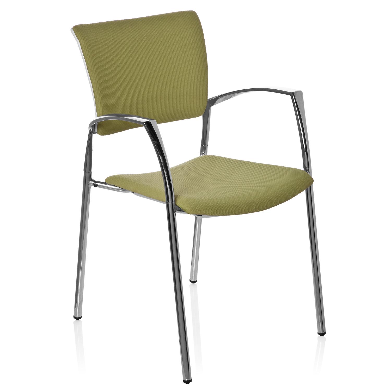 Silla de confidente ergon mica elegance vw en verde for Diseno de silla ergonomica