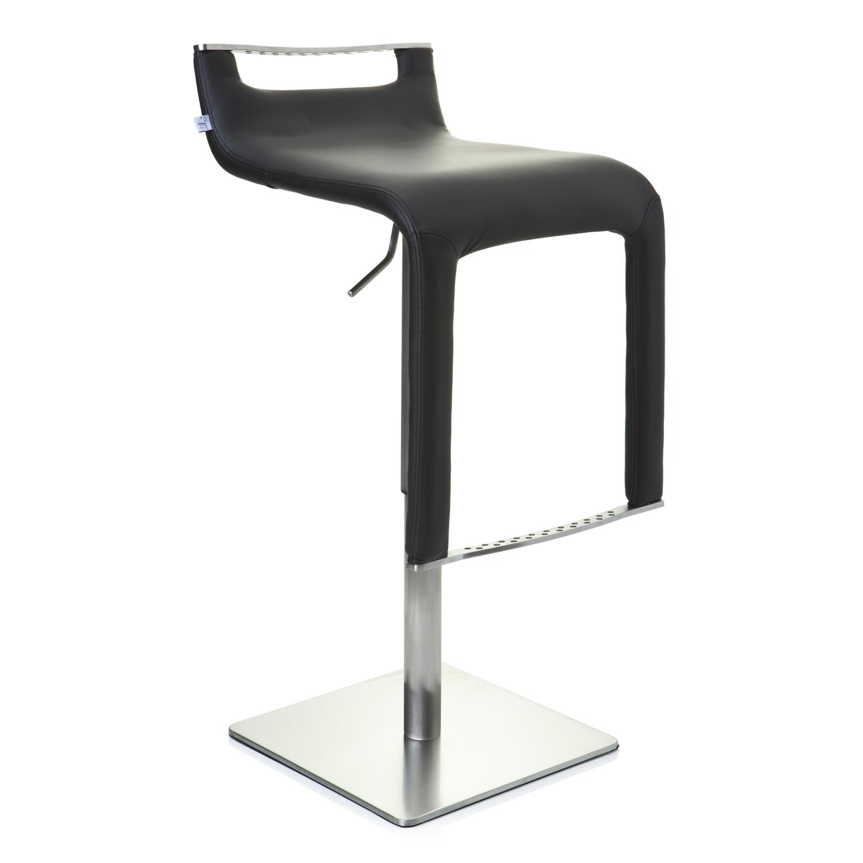 moderno taburete paolo formas muy exclusivas polipiel gran calidad estructura acero negro