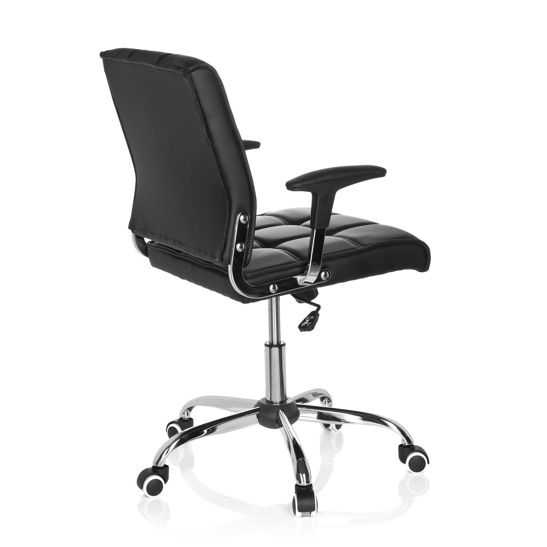 Silla de oficina esteban base de aluminio negra silla for Sillas de aluminio