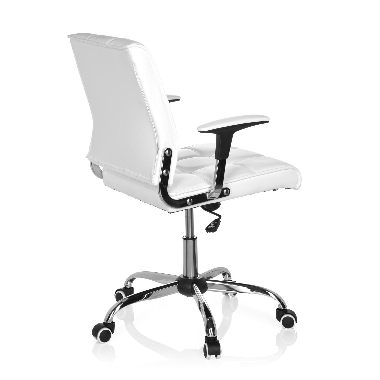 Silla de oficina esteban base de aluminio blanca silla for Silla oficina diseno