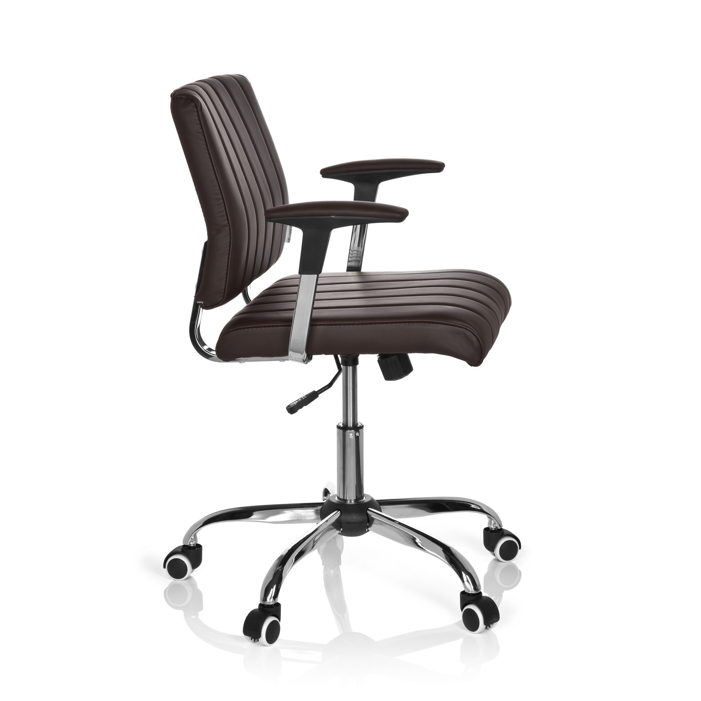 Silla de oficina retro fernando base de aluminio marr n silla de oficina fernando estilo - La silla de fernando ...