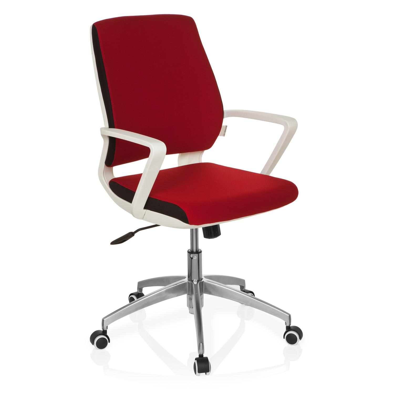 Silla de oficina elisa uso 8h base de aluminio rojo for Silla oficina moderna