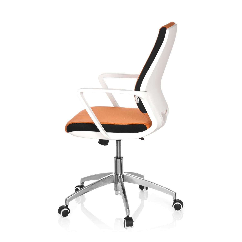 Silla de oficina elisa uso 8h base de aluminio naranja for Silla oficina moderna