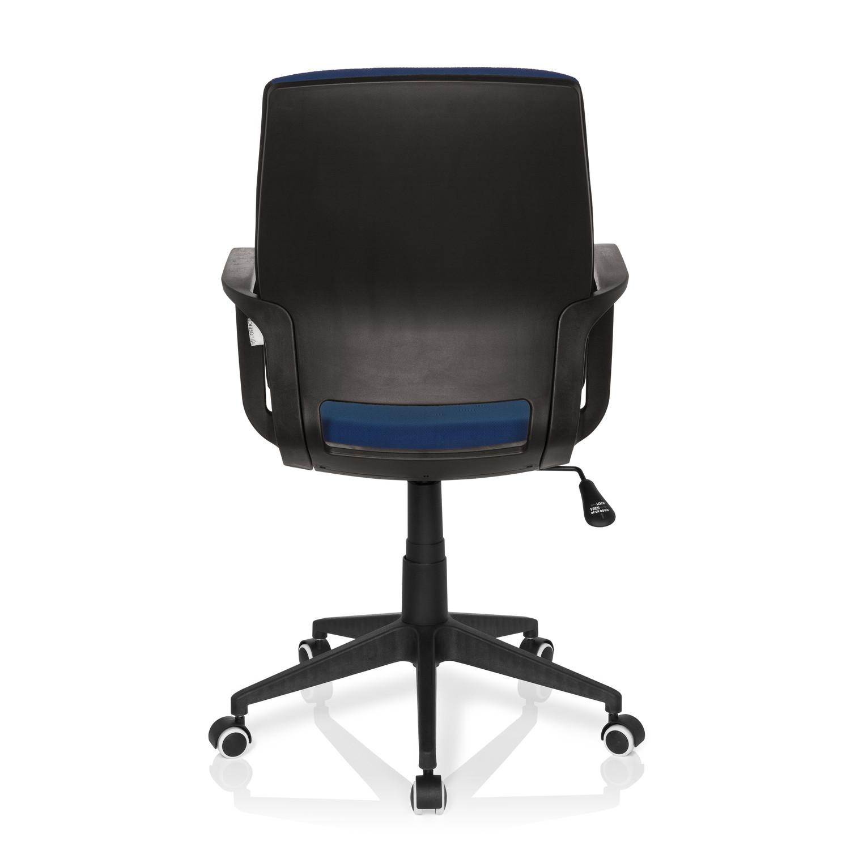 Silla de oficina elisa uso 8h estructura negra azul for Silla oficina moderna