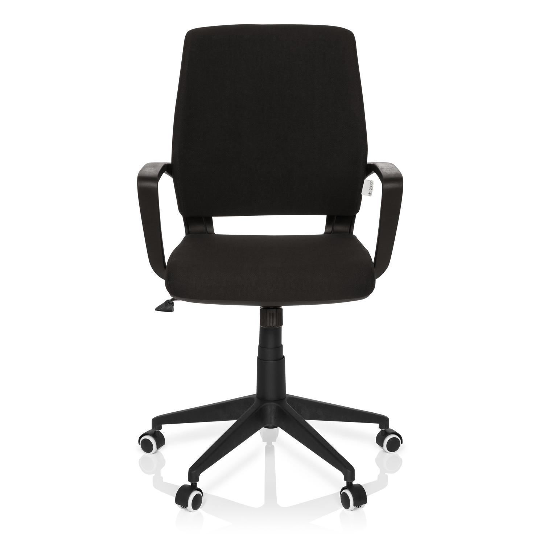 Silla de oficina elisa uso 8h estructura negra negro for Sillas negras modernas