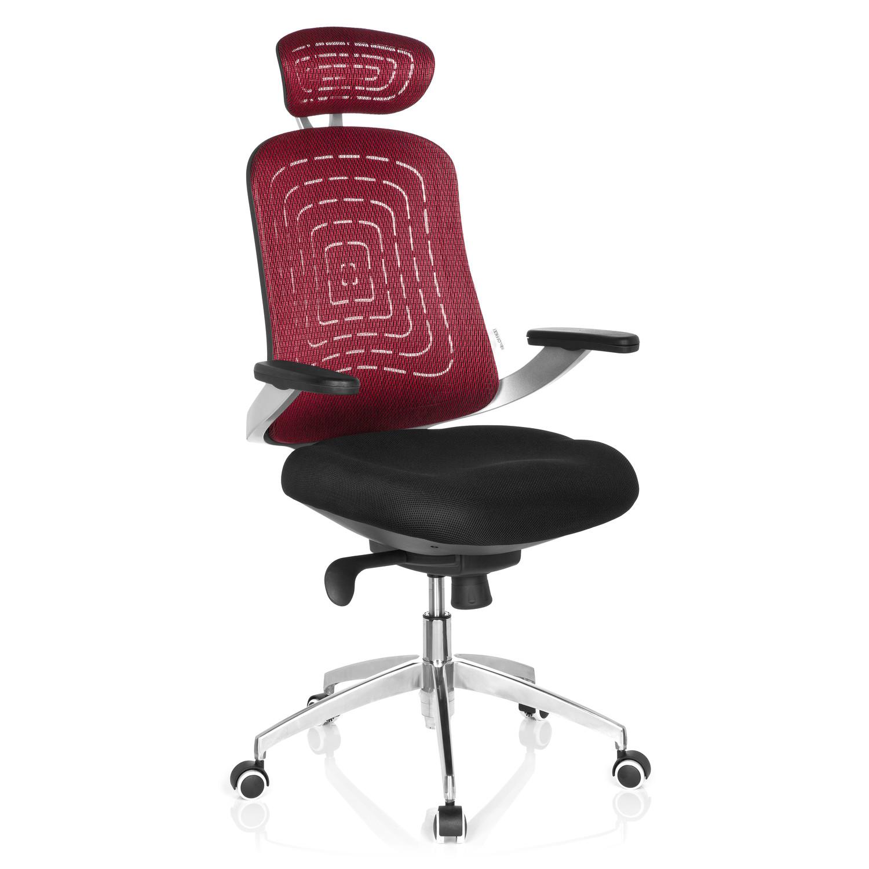 Silla ergon mica genua pro base de aluminio roja silla for Diseno de silla ergonomica