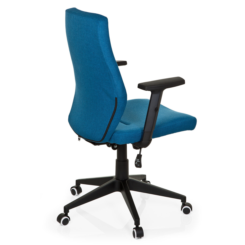 silla de oficina sintra ajustable tapizada en tela azul On mecanismo silla de oficina