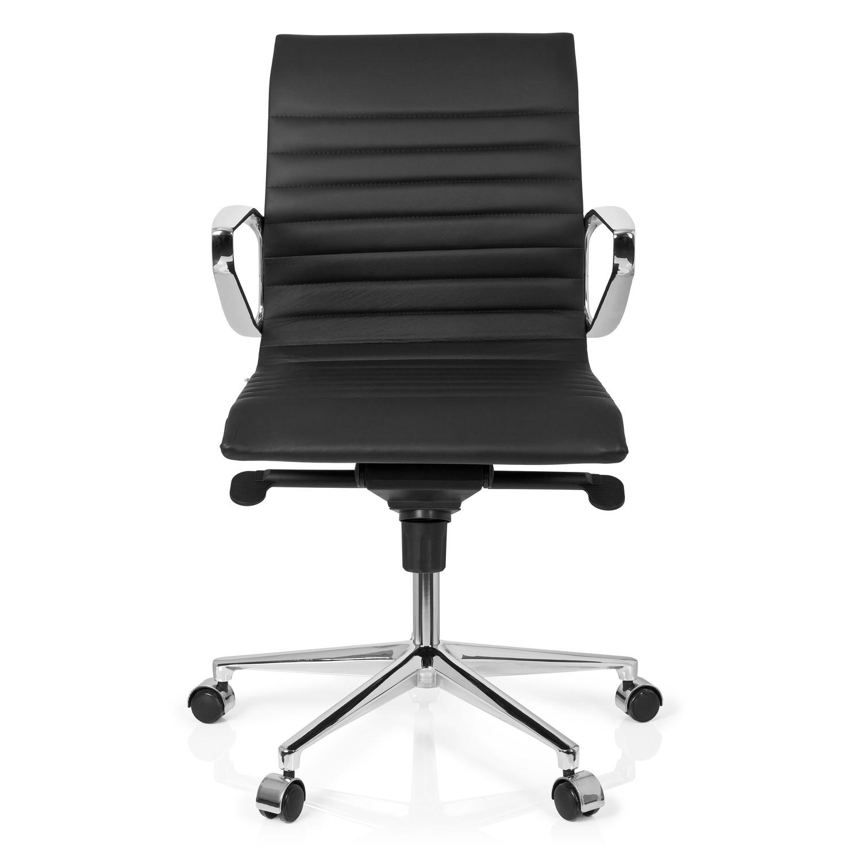 Silla Oficina / Despacho CHICAGO 10, Espectacular Diseño, Moderna y  Elegante, en Piel, Color Negro
