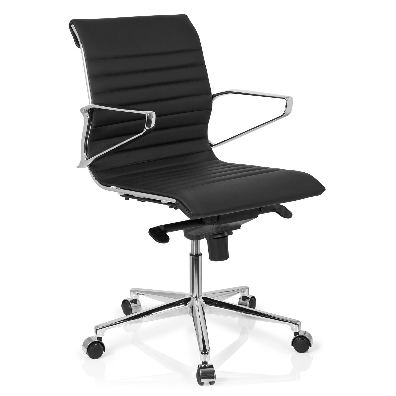 Oficina PielColor Chicago Despacho Negro DiseñoModerna Y Silla 10Espectacular EleganteEn YE29WDeHI