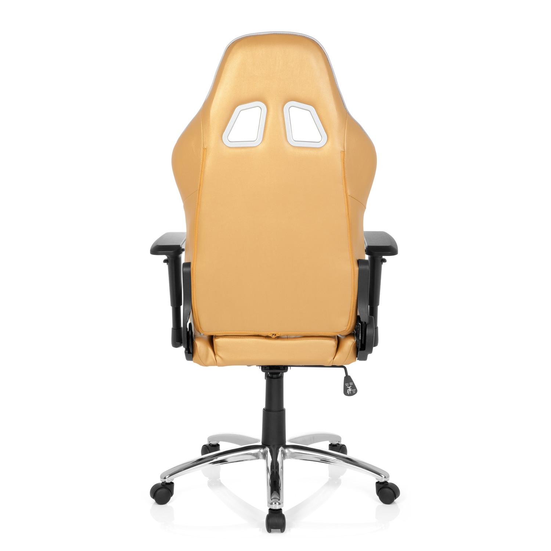 Silla gaming targa reclinable con cojines en dorado y for Silla gaming con altavoces