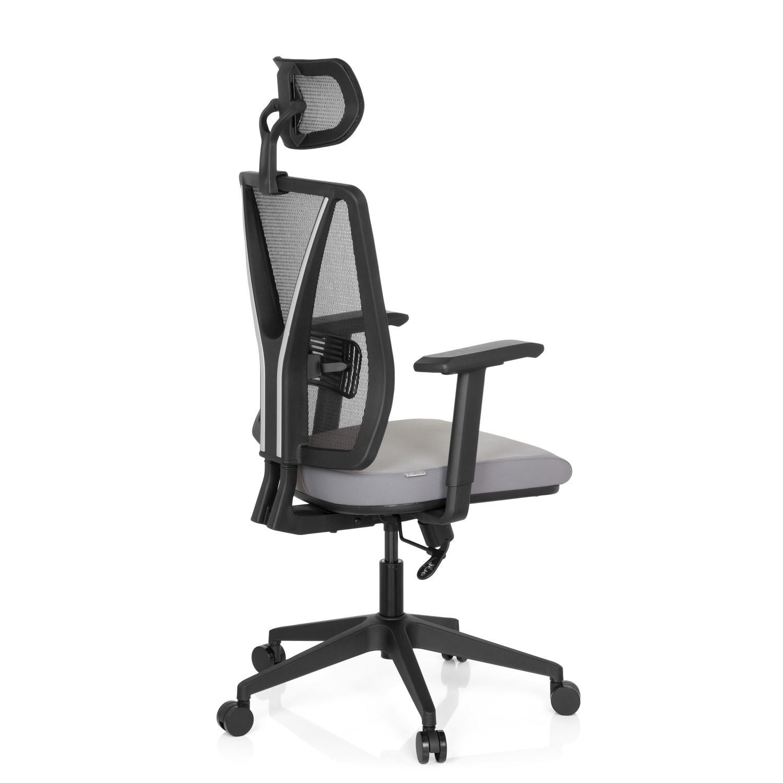 Silla de oficina udine pro soporte lumbar en malla y for Sillas ergonomicas con apoyo lumbar