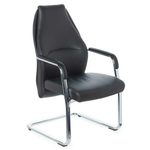 Silla de confidente ergon mica fremondo v en piel negra for Rebajas sillas gaming