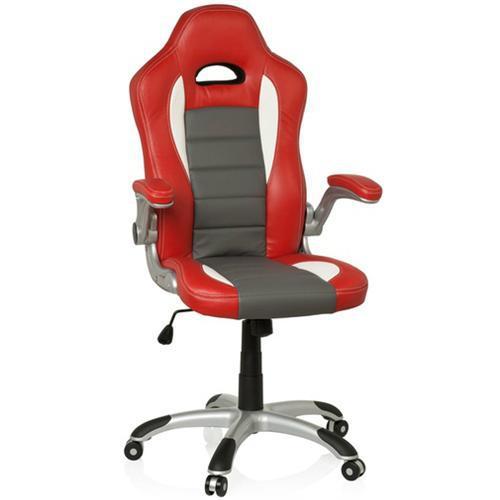 Sillas de oficina y ordenador montecarlo en polipiel roja for Silla de oficina deportiva