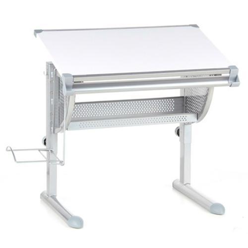 Escritorio juvenil belia ajustable blanco y gris 117x68cm escritorio juvenil belia - Escritorio juvenil blanco ...