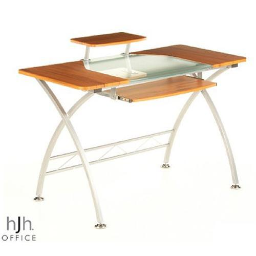 Mesa de oficina de madera y cristal COMBI, 75x120cm - Ofisillas.es
