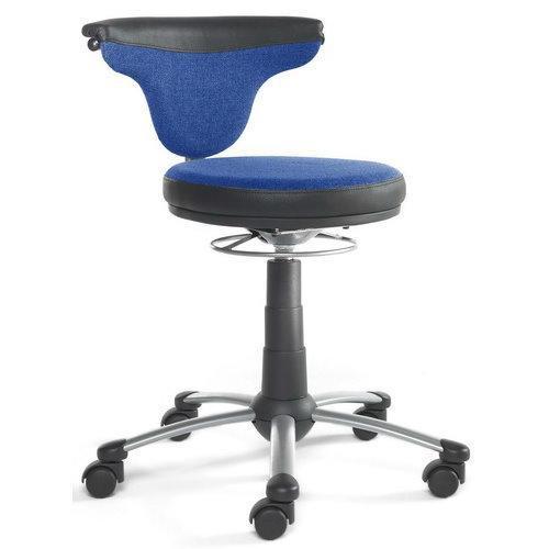 Silla giratoria TORO SIT, concepto innovador, en azul - Silla ...