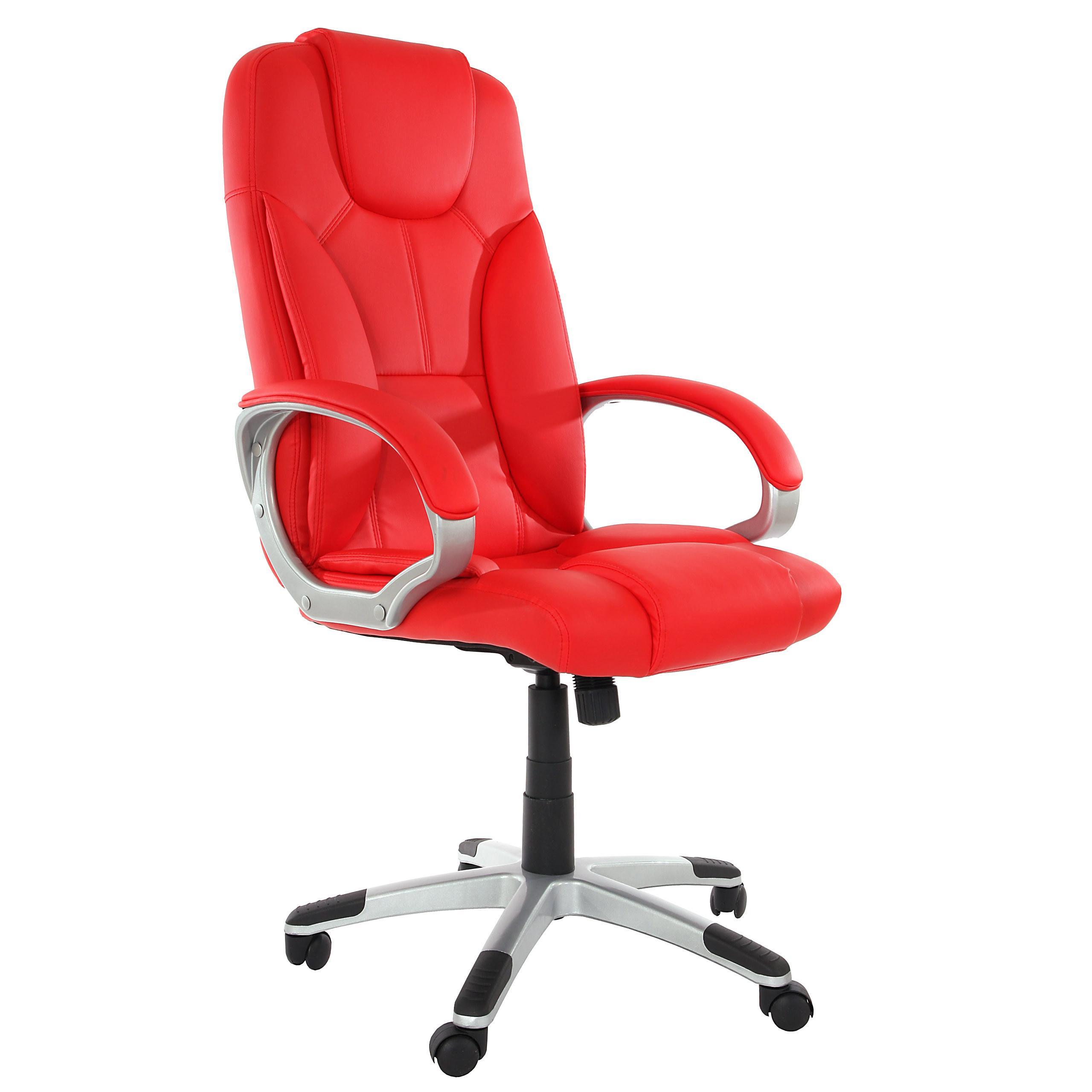 Sill n de oficina arona acolchado rojo sill n de for Precio de sillones para oficina