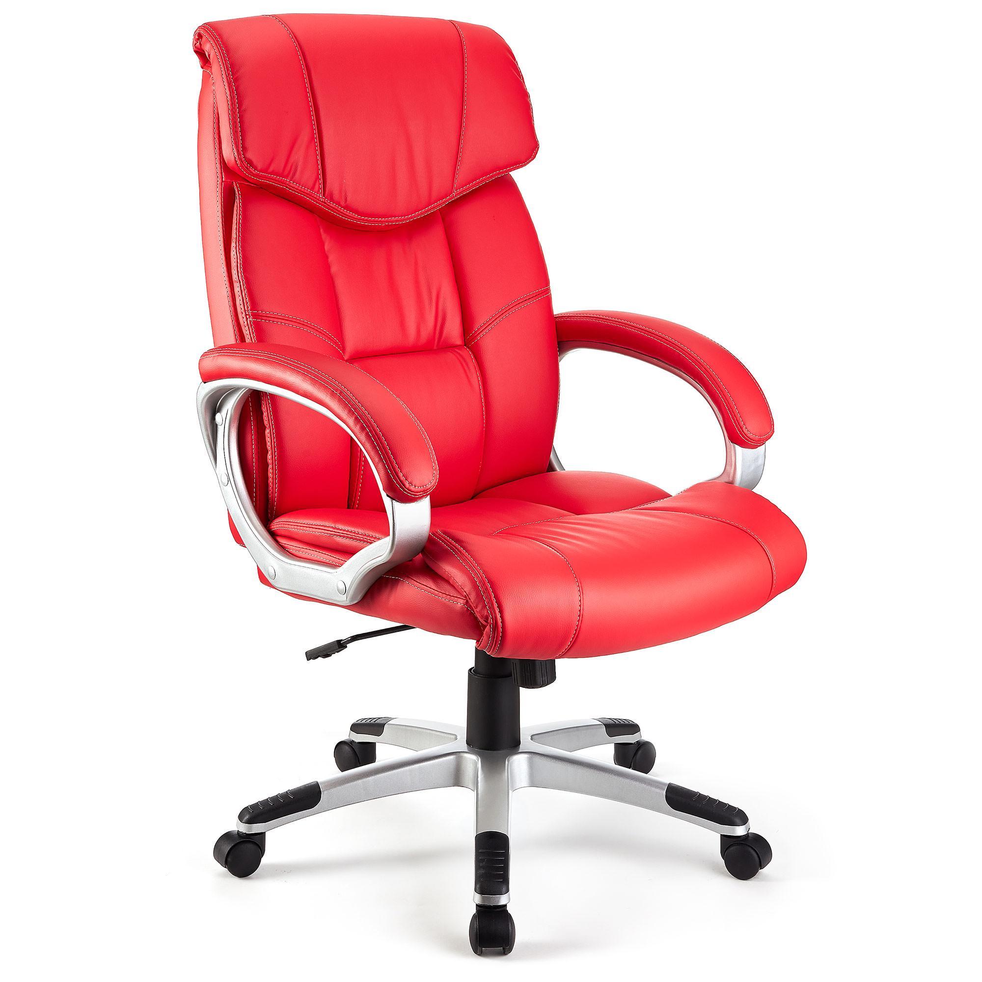 Sill n de oficina santiago acolchada uso 8h rojo for Sedia ufficio basculante
