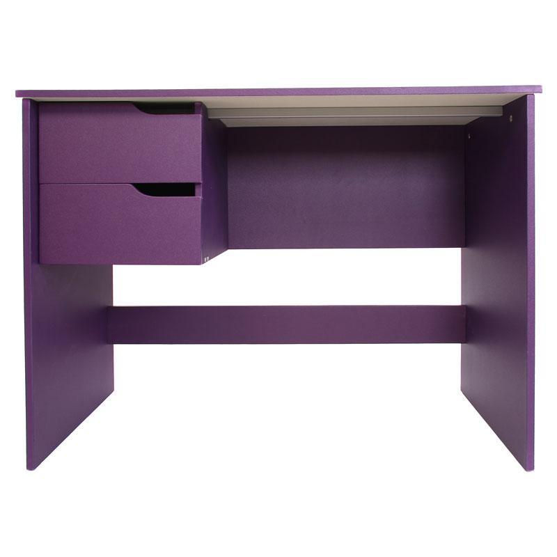 Mesa de escritorio fenix doble cajonera morada 100x52 for Mesa escritorio con cajones