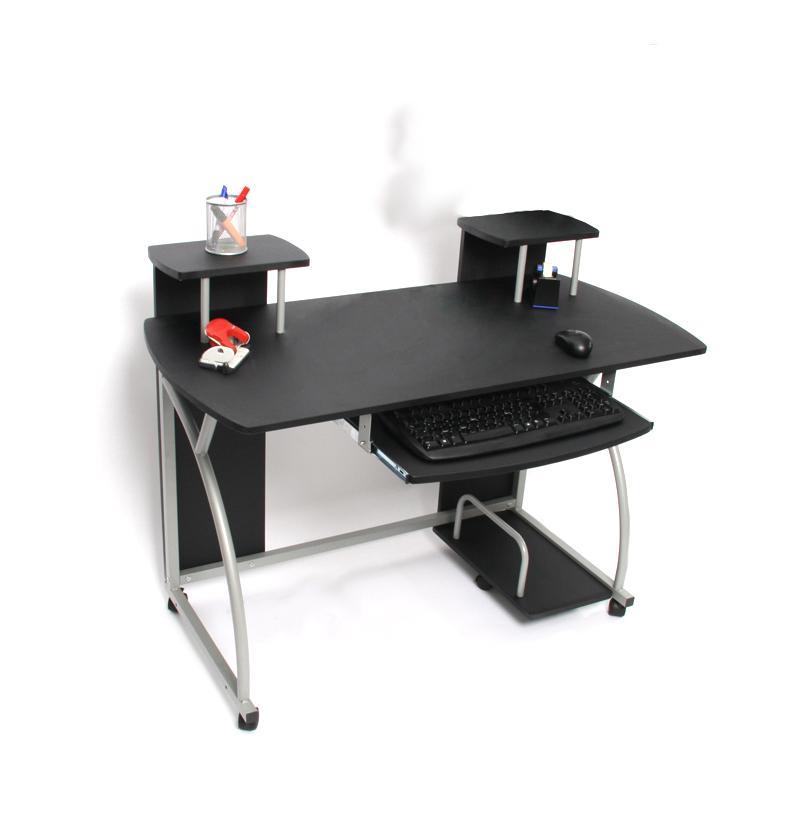 Mesa de ordenador ohio pro bandeja teclado negra 115x55 mesa de ordenador ohio pro con - Mesas de ordenador ...