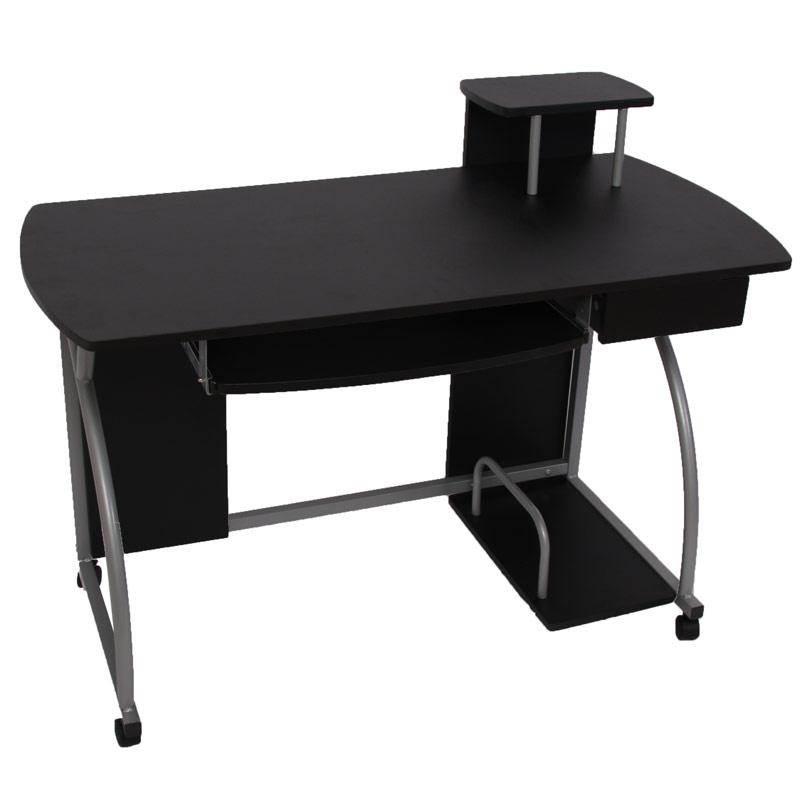 mesa de ordenador ohio pro ii bandeja teclado negro 115x55 mesa de ordenador ohio pro ii. Black Bedroom Furniture Sets. Home Design Ideas