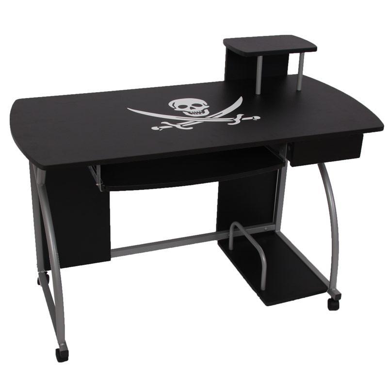 Mesa de ordenador ohio pro ii bandeja teclado piratas for Bureau 90 cm de large