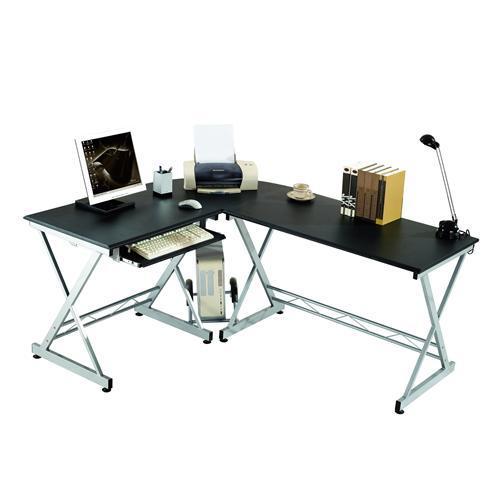Mesa de ordenador en madera y aluminio easy go 75x173cm for Pc de oficina