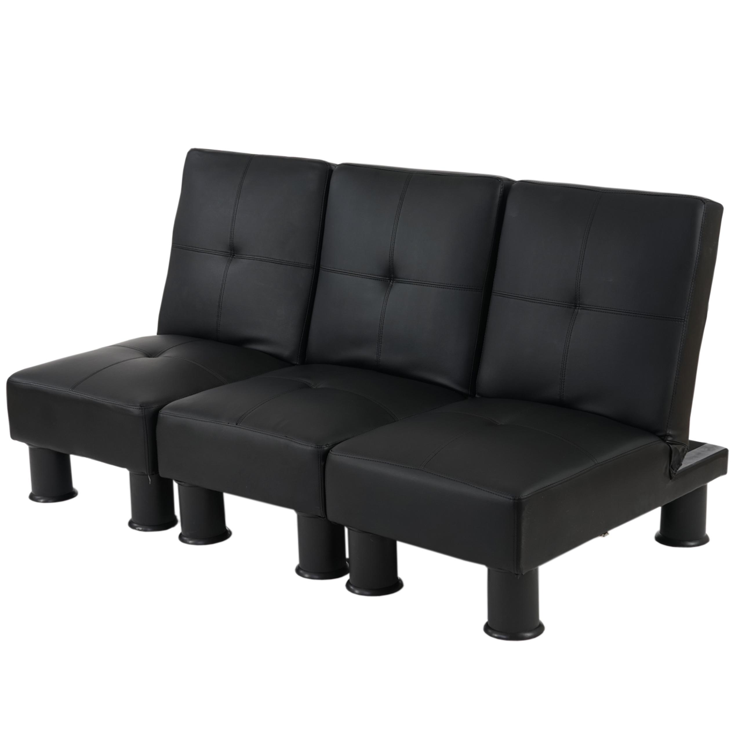 Sof modular de 3 plazas carlo en piel color negro sof modular 3 piezas carlo muy vers til - Sofas muy comodos ...