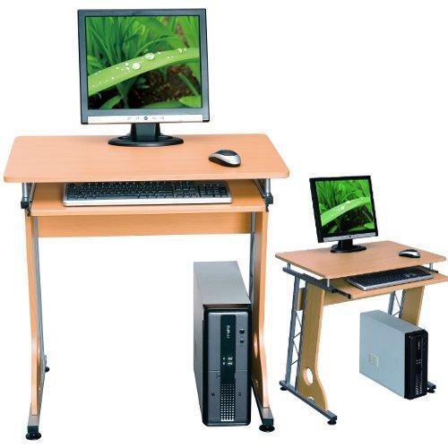 Mesa de ordenador dise o smart en color haya mesa para - Mesa para ordenador portatil ...