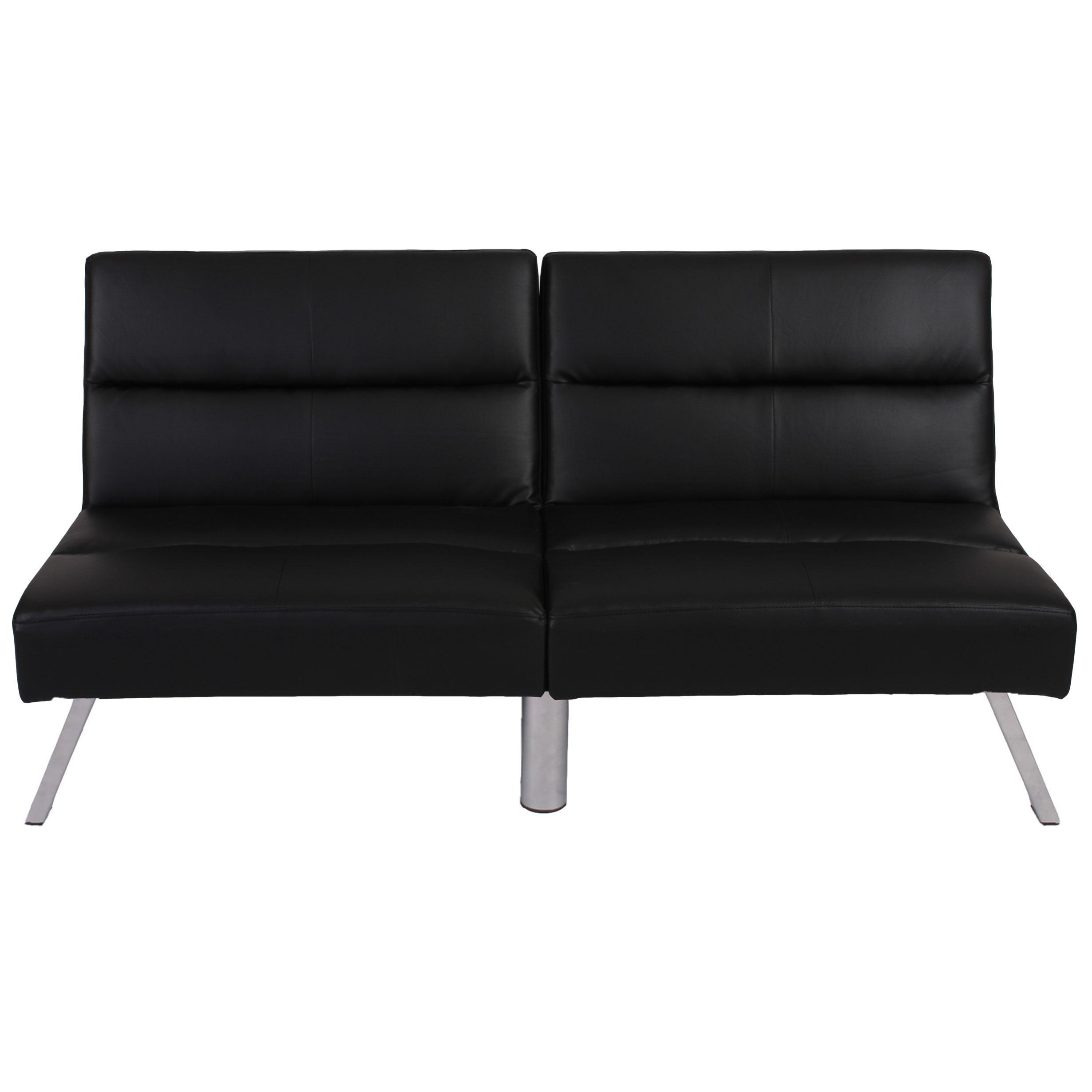 Sof plegable de 3 plazas romeo muy vers til y c modo en piel color negro sof plegable 3 - Sofas muy comodos ...