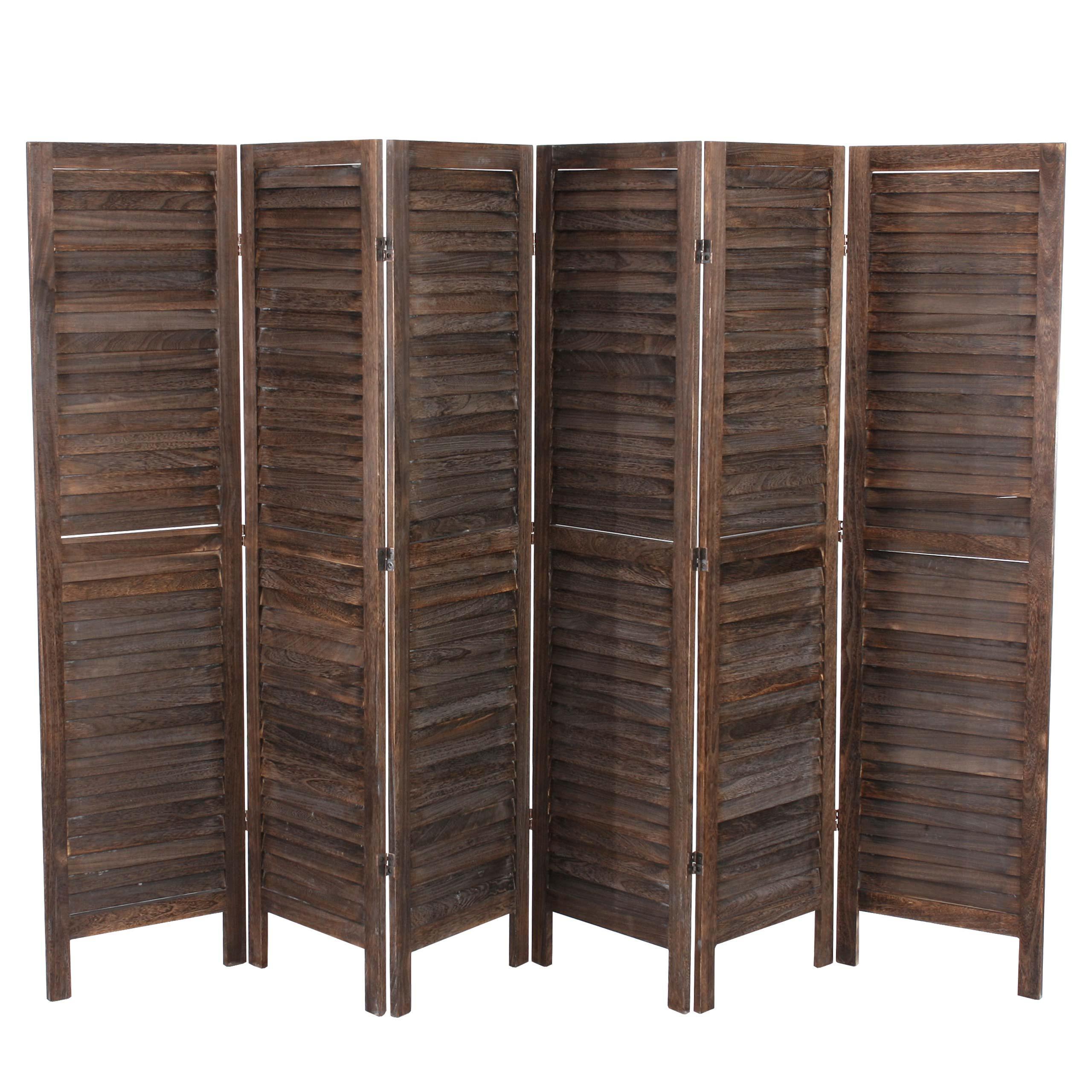 Biombo de madera leo 170x276x2cm muy elegante color - Biombos de madera ...