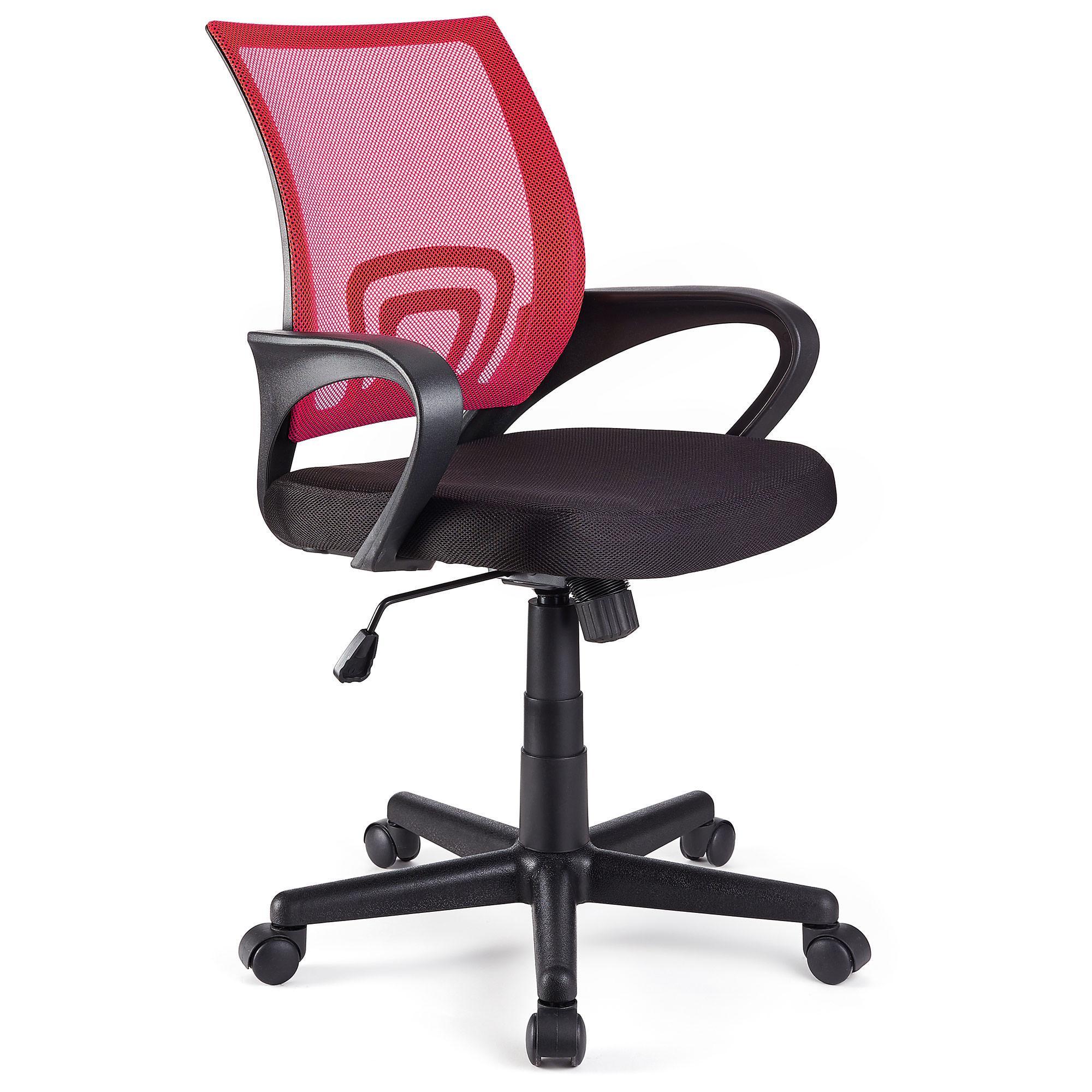 Silla de oficina seul con asiento acolchado en rojo for Silla oficina diseno