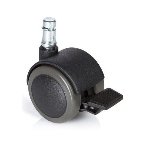 5x Ruedas para suelos Duros 11mm / 50mm, con freno incluido, especiales  para parquet, baldosa