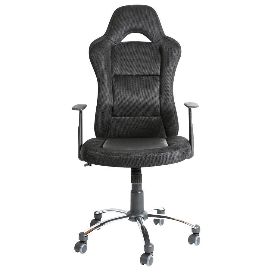 silla gamer michigan en polipiel negra silla de oficina