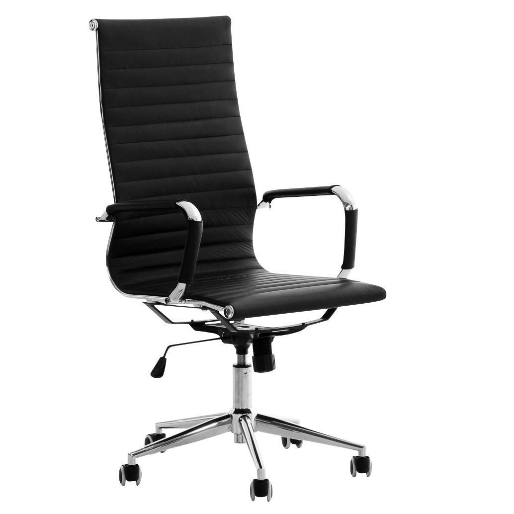 Silla de oficina roma exclusivo dise o en piel color for Sillas y sillones de diseno