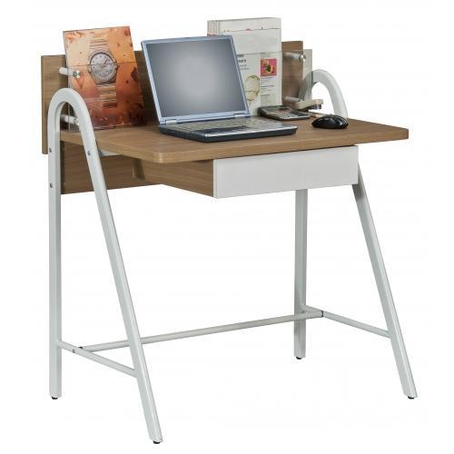 Mesa de ordenador dise o galileo en madera con balda en vidrio mesa para ordenador port til - Mesa portatil ordenador ...