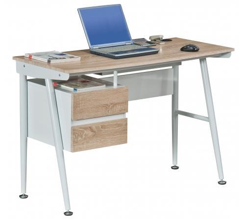 Mesa para ordenador port til viking en metal con cajones for Mesa para ordenador portatil