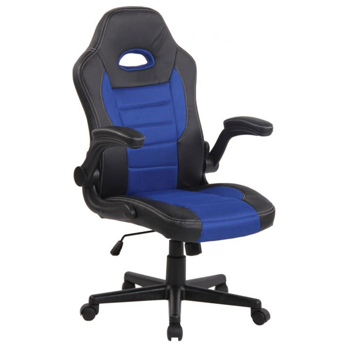 Silla de Ordenador Gaming LOTUS, reposabrazos abatibles, en piel y malla transpirable color azul
