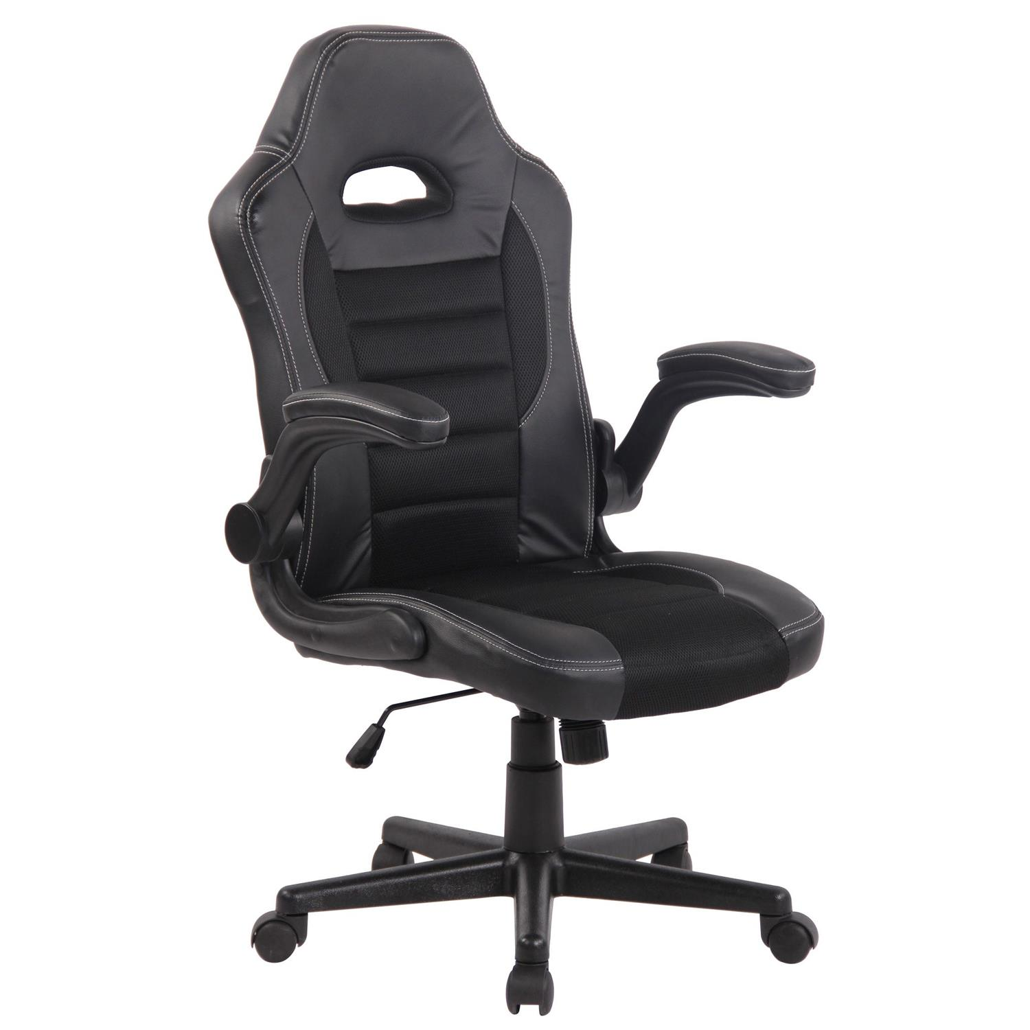 Silla de Ordenador Gaming LOTUS, reposabrazos abatibles, en piel y malla transpirable color negro