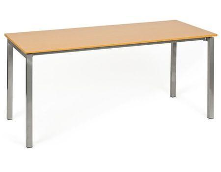 Mesa de oficina MORRIS, estructura metálica y superficie en madera ...