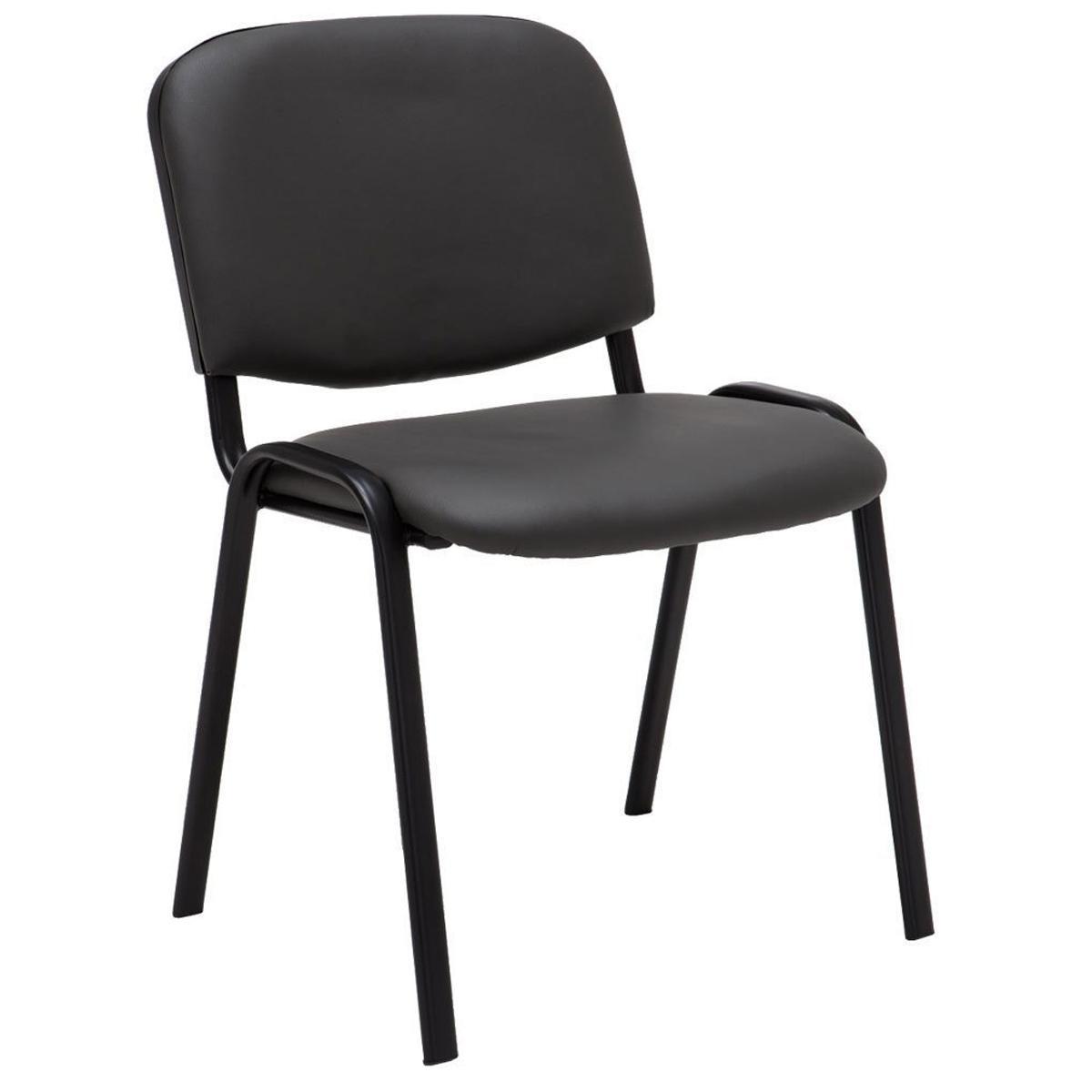 Silla de confidente moby piel gris patas negras silla for Sillas color gris