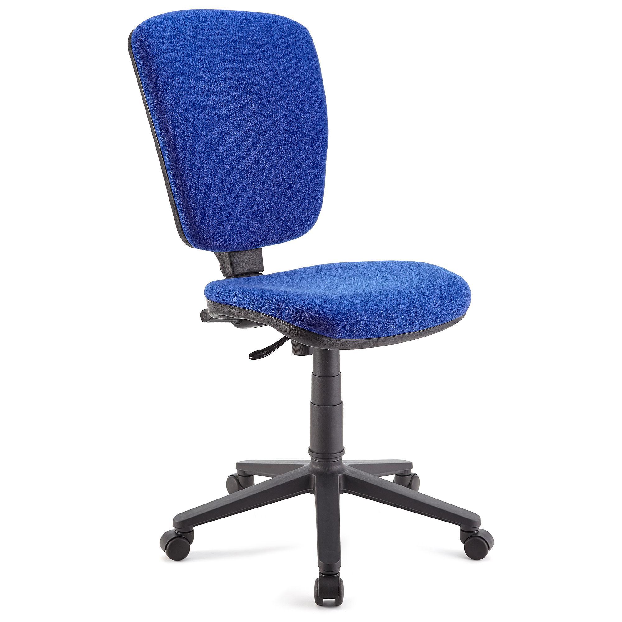 Silla de oficina calipso sin brazos respaldo ajustable for Sillas giratorias de oficina