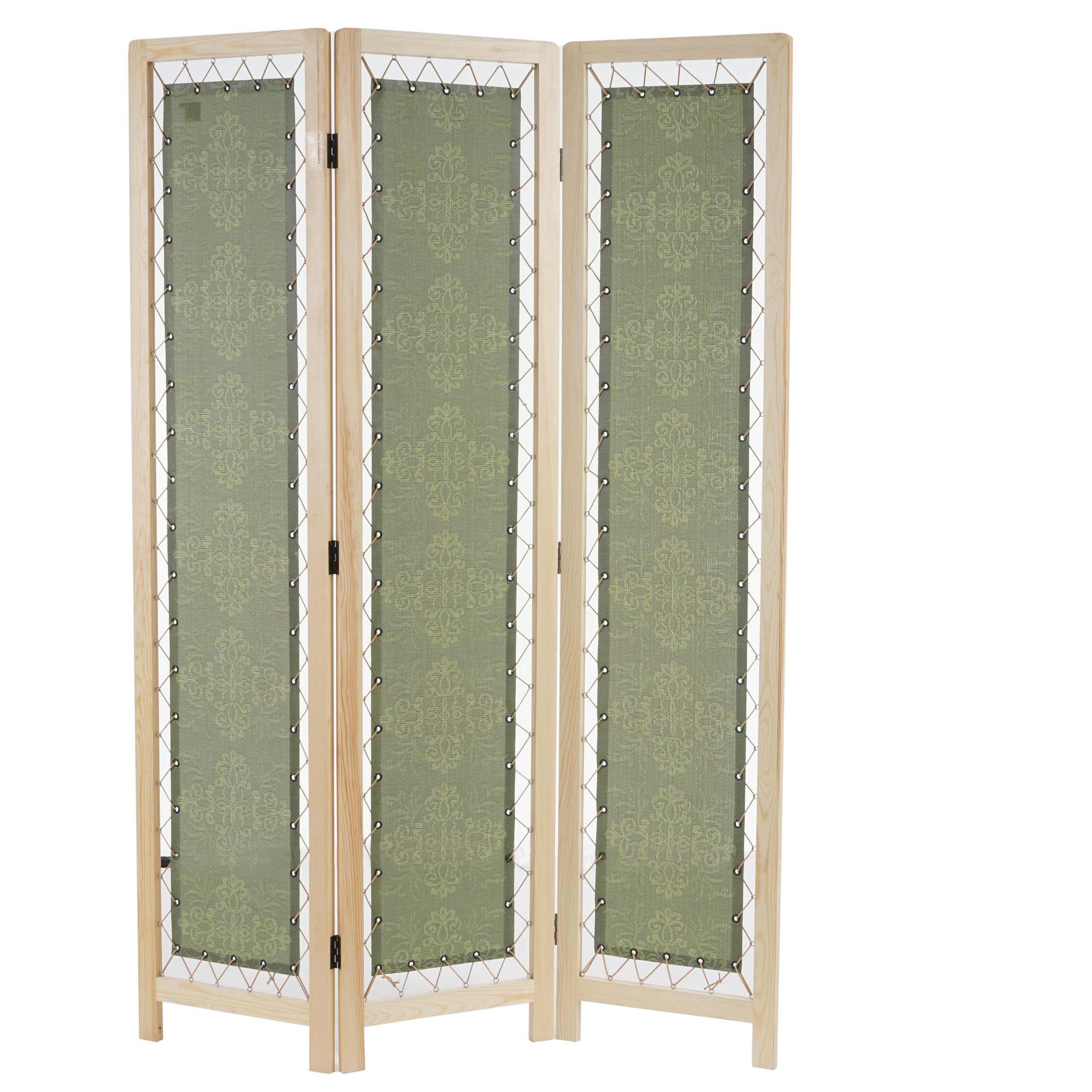 biombo paneles jokul xxcm estructura de madera con tapizado de tela